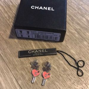 RARE Chanel Key Earrings NWT